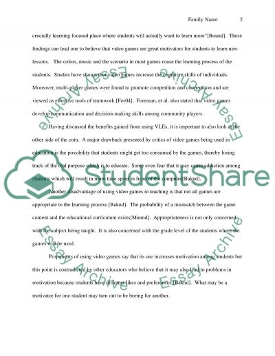 Should Games be Used for Education Purposes in the Classroom essay example