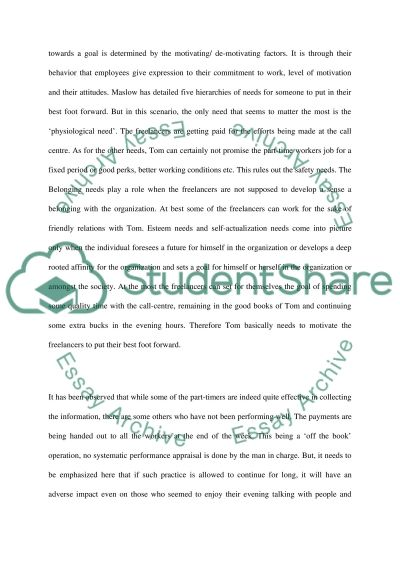 Organizational Behaviour Case Analysis essay example