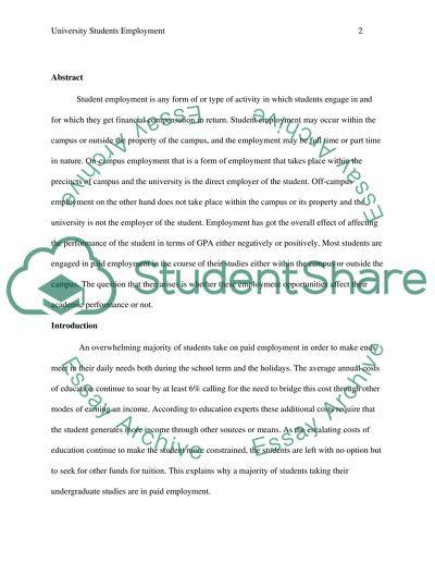 University Students Employment