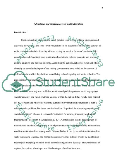 Research Paper Essay Format Stste The Advantages And Disadvantages Of Multiculturalism Term Papers And Essays also Custom Term Papers And Essays Stste The Advantages And Disadvantages Of Multiculturalism Essay High School Years Essay