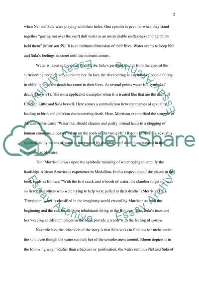 Essay On Science And Society Toni Morrison The Book Sula And The Symbol Of Water Great Gatsby Essay Thesis also English Essays Book Toni Morrison The Book Sula And The Symbol Of Water Essay Sample Essay Papers