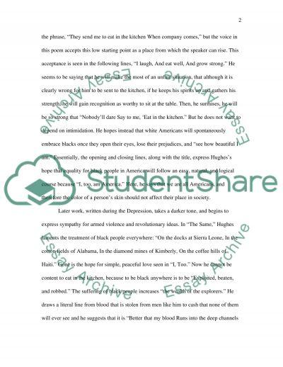 Langston Hughes Essay essay example