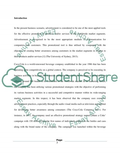 Advertising review essay example