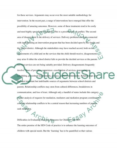 Special Educational Needs Essay essay example