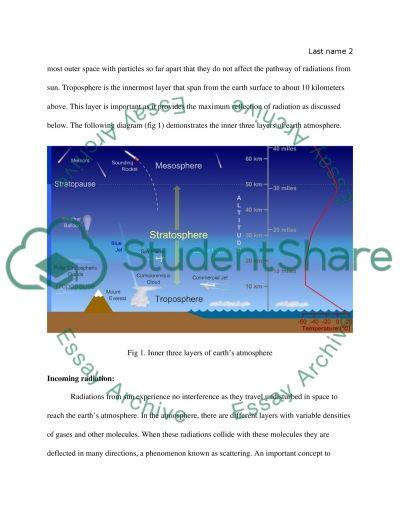 The Earth energy-balance essay example