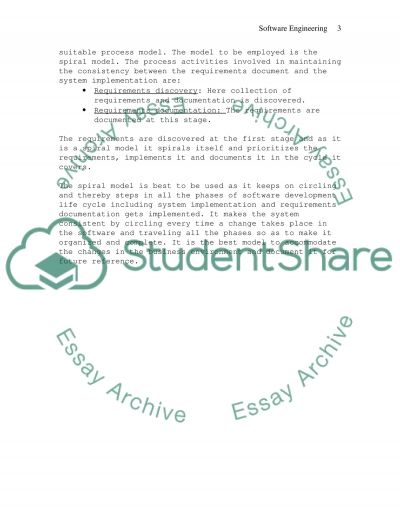 SOFTWARE ENGINEERING assignment 4 essay example