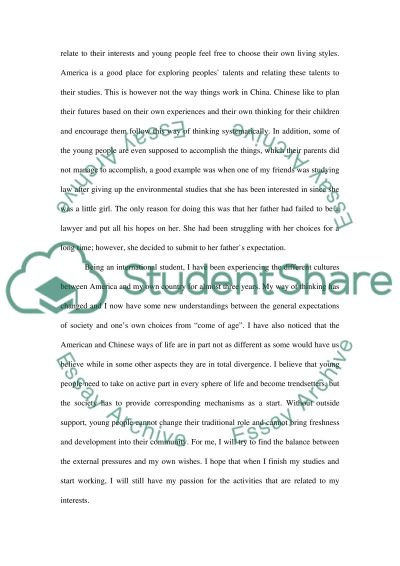 China. Cultural background essay example