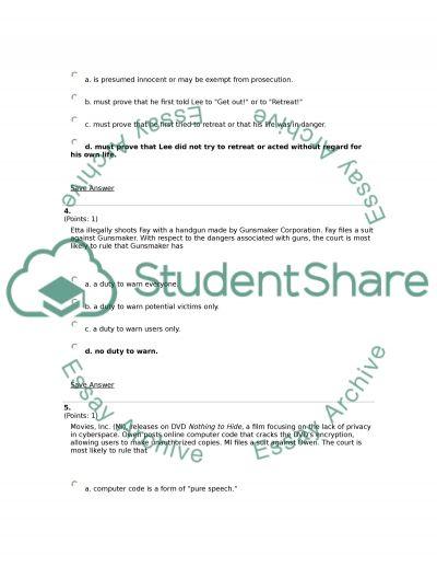 Law High School Essay essay example
