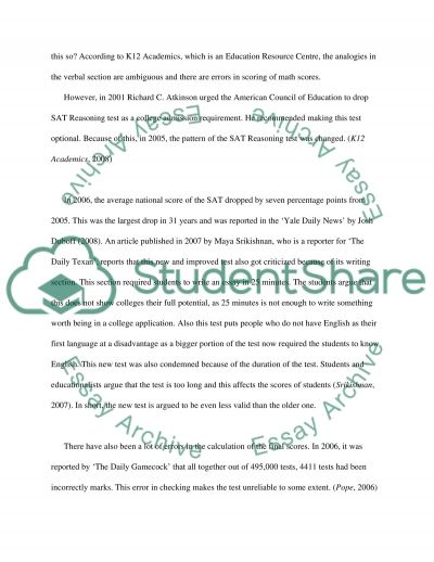 Analysis of the exam for admission to higher education institutions essay example