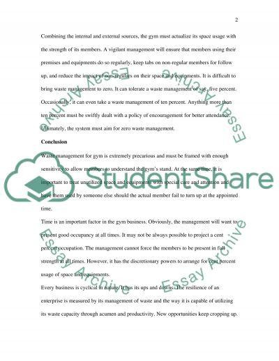 Facilities Management Essay essay example