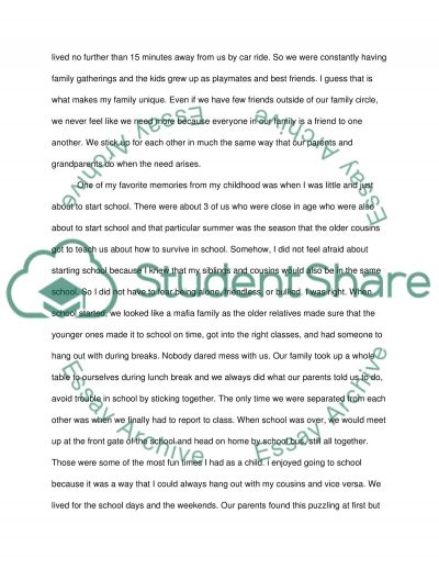 Reflective essay on your family