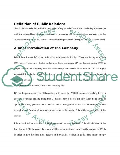 Public Relations Strategy Essay example