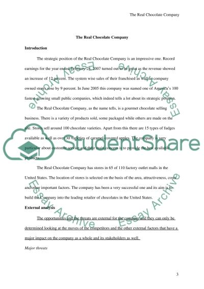 real chocolate case study Essay example