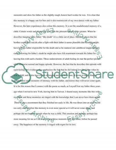 Poetry assigment essay example