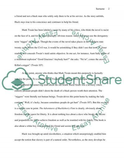 Huckleberry Finn Persuasive Paper