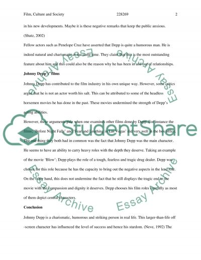 Film, Culture and Society essay example