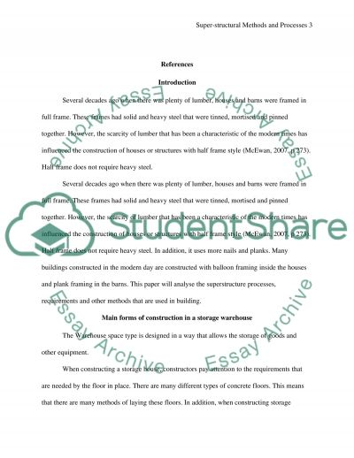 Superstructural Methods & Processes essay example