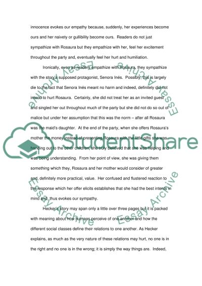 The Stolen Party and Brownies essay example