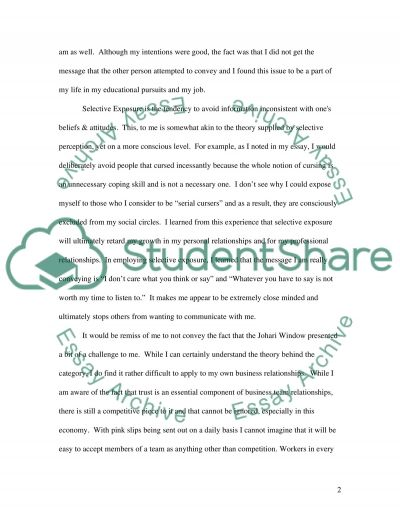 Communication Personal Statement essay example