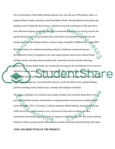 Dissertation on banking sector