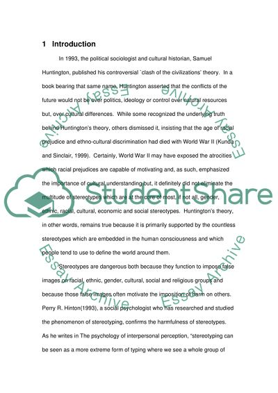 Stereotyping essay example topics and well written essays 3500 words