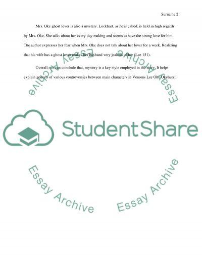 Literary Analysis Essay essay example