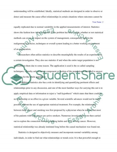 Role of Statistics in the Research Process essay example