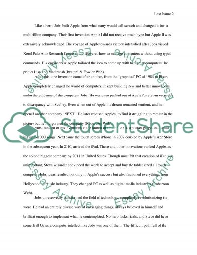 steve jobs a modern hero essay example topics and well written  steve jobs a modern hero essay example