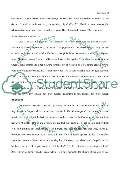 isolation and alienation in frankenstein and the metamorphosis essay isolation and alienation in frankenstein and the metamorphosis essay example