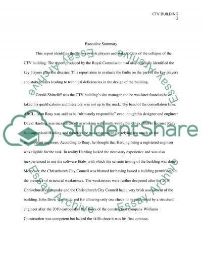 CTV Building essay example
