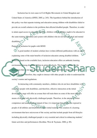 An audit of current provision and critical reflection of the Learning Environment where intervention groups are currently conduc