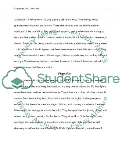 compare and contrast essay discussing the main characters the story compare and contrast essay discussing the main characters the story of an hour and a