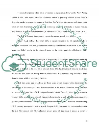 Investment Analysis and Strategy essay example