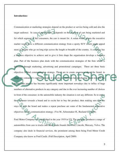 Communication or marketing strategies essay example
