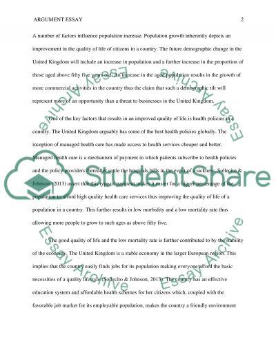 Argument Essay essay example
