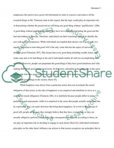 Critical Essay essay example