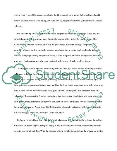 Informative Essay about Forks