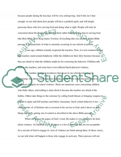 Christianity and Education essay example