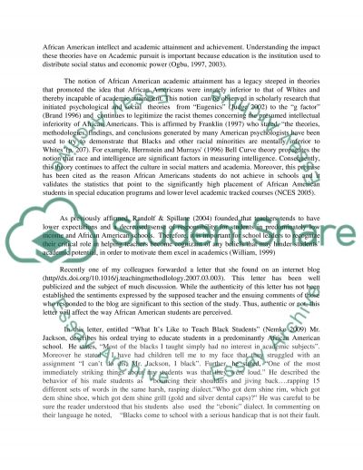 stereotypes and african american self perception essay text
