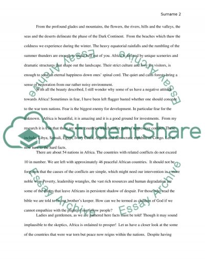 Essay About George Washington Informative Speech About Africa Or Presentation Example Topics Informative  Speech About Africa Essay Example King Lear Madness Essay also Comparison Essay Ideas Essay On Africa Informative Speech About Africa Or Presentation  The Necklace By Guy De Maupassant Essay