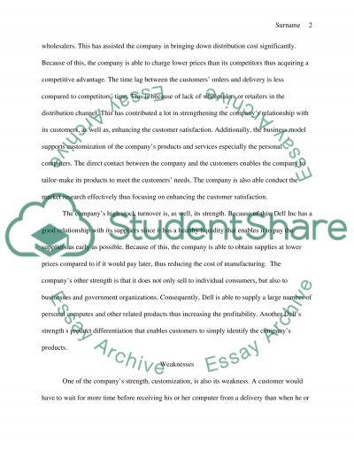 Busines stratgt essay example