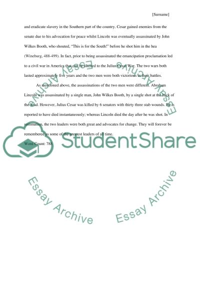 julius caesar and abraham lincoln essay example topics and well   abraham lincoln essay example text preview