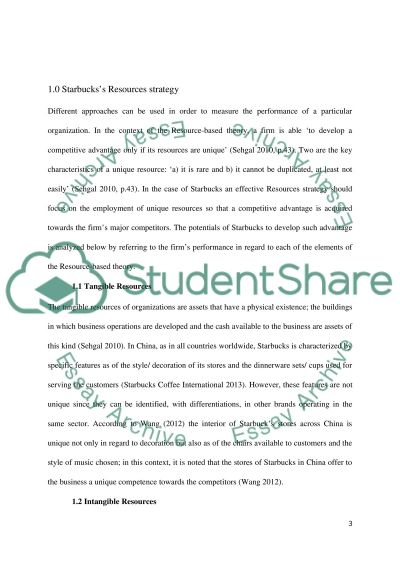 critical evaluation organization s resources and capabilities of  critical evaluation organizations resources and capabilities of starbucks in internal environment essay