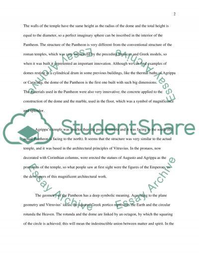 Pantheon essay example