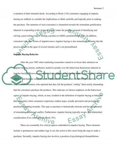 Understanding & Researching Consumer Buyer Behaviour essay example