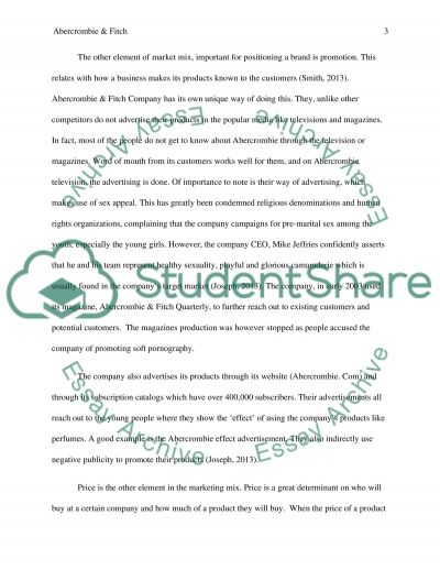 Abercrombie & Fitch Positioning Strategy essay example