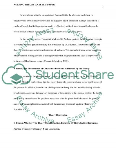 nursing theory essay View and download complete sample nursing philosophy essays, instructions,   sources should focus on references from nursing theory but may also include.