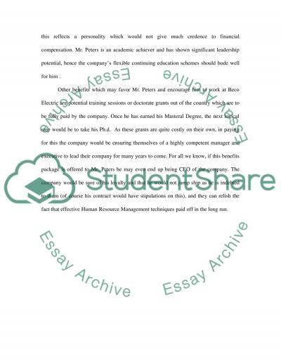 Human Resource Management High School Case Study essay example