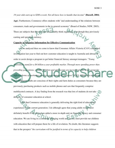 Commerce Education essay example