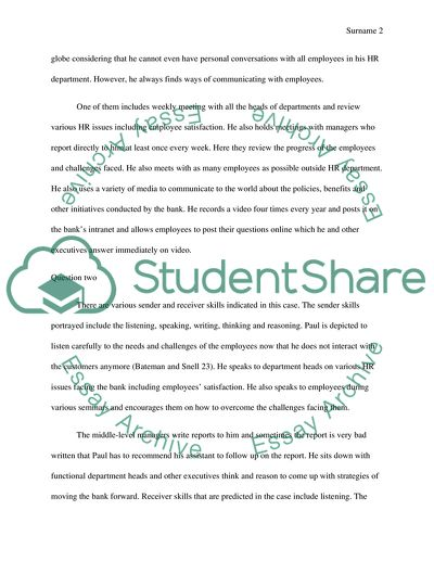 Best Trust Bank Case Essay Example | Topics and Well Written